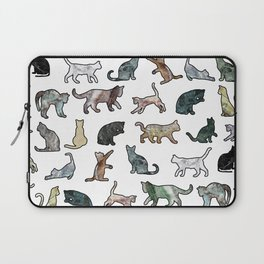Cats shaped Marble - White Laptop Sleeve