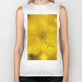 Yellow Bokeh Flower Biker Tank