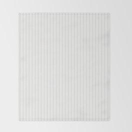 Creamy Tofu White Mattress Ticking Narrow Striped Pattern - Fall Fashion 2018 Throw Blanket