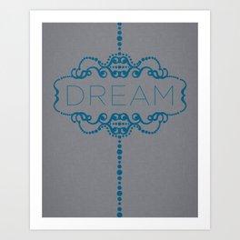 Dream in Teal Art Print