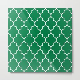 Constantine Lattice in Emerald Metal Print