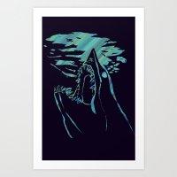 blue mako shark Art Print