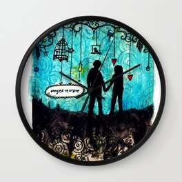 Tangled Up in Love Wall Clock