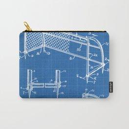 Soccer Patent - Soccer Goal Art - Blueprint Carry-All Pouch