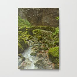 Stone bridge in Rakov Škocjan in Slovenia Metal Print