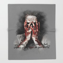 Rick Grimes from The Walking Dead Throw Blanket