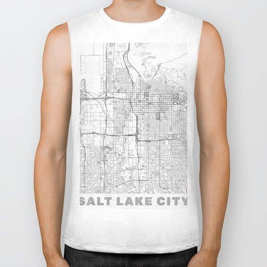 Salt Lake City Map Line Biker Tank