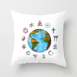 World religions Throw Pillow