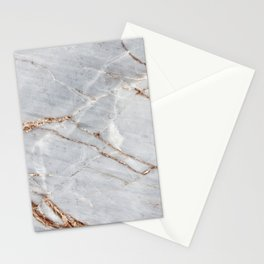 Light Gray Marble With Gold Stationery Cards