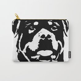 Rottweiler Dog black white Carry-All Pouch