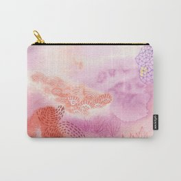 Herb Song in Lavender with Mugwort Contemporary Abstract Watercolor Painting Carry-All Pouch