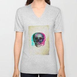 Stereoscopic Skull Unisex V-Neck