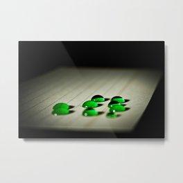 Emerald Rain Metal Print