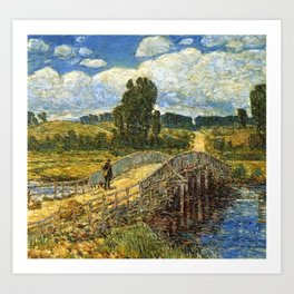 Classical Masterpiece 'Bridge at Old Lyme, Connecticut'' by Frederick Childe Hassam Art Print