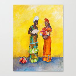 Flower Ladies Canvas Print