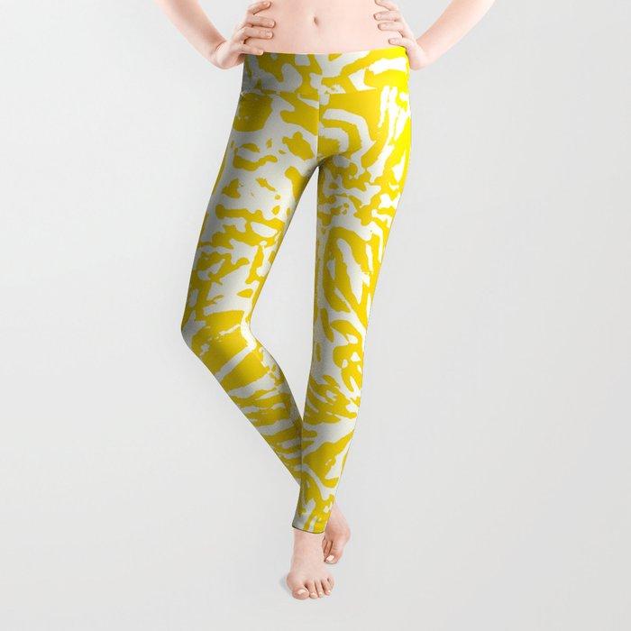 Gen Z Yellow Marigold Lino Cut Leggings