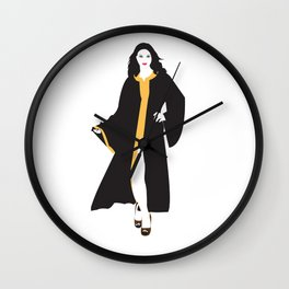 Mystique White Woman Wall Clock