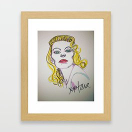 Blonde beauty Framed Art Print