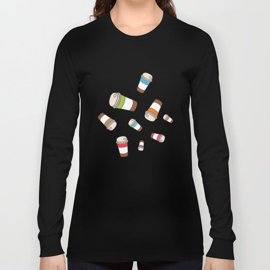 Coffee pattern Long Sleeve T-shirt