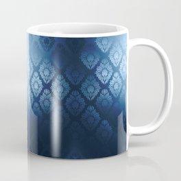 """Navy blue Damask Pattern"" Coffee Mug"