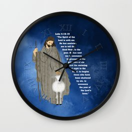 Jesus of Nazareth the Good Shepherd Wall Clock