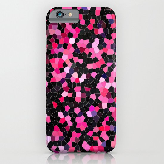pink and black mosaic iPhone & iPod Case