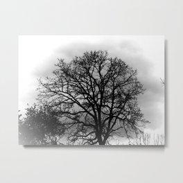 Spooky Fall Tree Metal Print