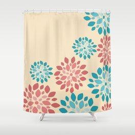Flower Flurries Beige Shower Curtain