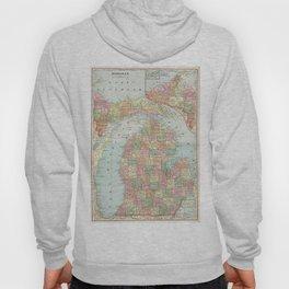 Vintage Map of Michigan (1901) 2 Hoody