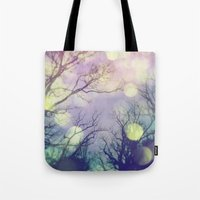 lunar Tote Bags featuring Lunar Orbit by Olivia Joy StClaire