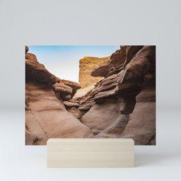 Red Canyon, Landscape - Israel Mini Art Print
