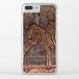 Vintage Zebra Painting (1909) Clear iPhone Case