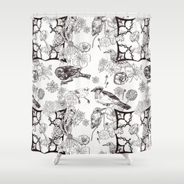 Floral Interlude Shower Curtain