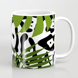 Leopard and palm leaves seamless pattern. Coffee Mug