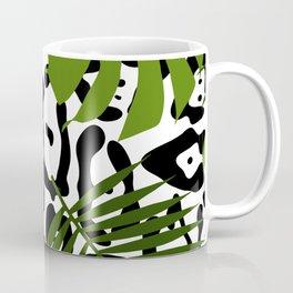 Leopard and palm leaves seamless pattern. Coffee Mug