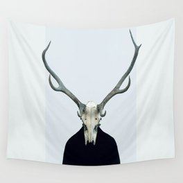 Living Skull and Horns Wall Tapestry