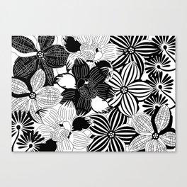 Flowers black & white serie 2 Canvas Print