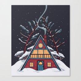 A Winter House Canvas Print