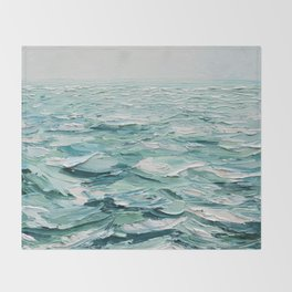 Minty Seas Throw Blanket