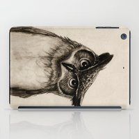 owls iPad Cases featuring Owl Sketch by Isaiah K. Stephens