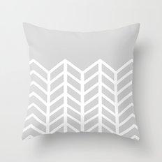 LACE CHEVRON (GRAY) Throw Pillow