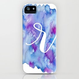 "Watercolor ""r"" iPhone Case"