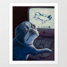 Bad dog! Art Print