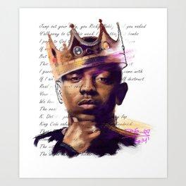 KingKendrick Art Print