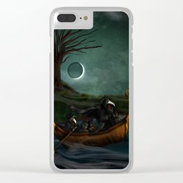 To Poveglia (The Plague Doctor) Clear iPhone Case