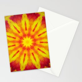 Mandala Fire Stationery Cards