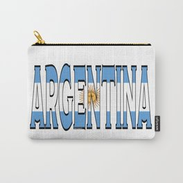 Argentina Font with Argentine Flag Carry-All Pouch