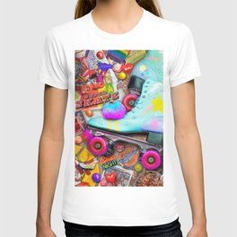 Super Retro Roller Skate Night T-shirt