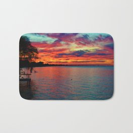 Sunset on Lake St. Clair in Belle River, Ontario, Canada Bath Mat