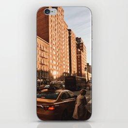 Golden New York iPhone Skin
